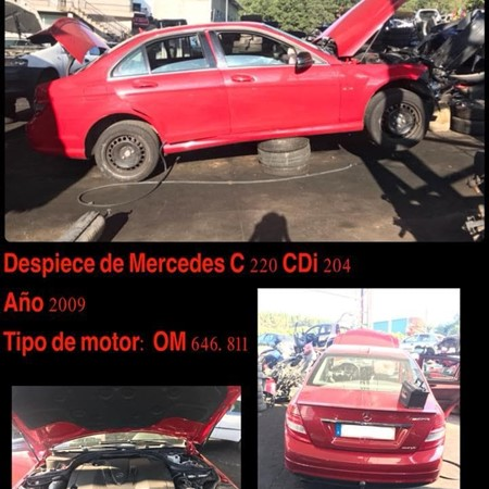 DESPIECE DE MERCEDES C220 CDI 204