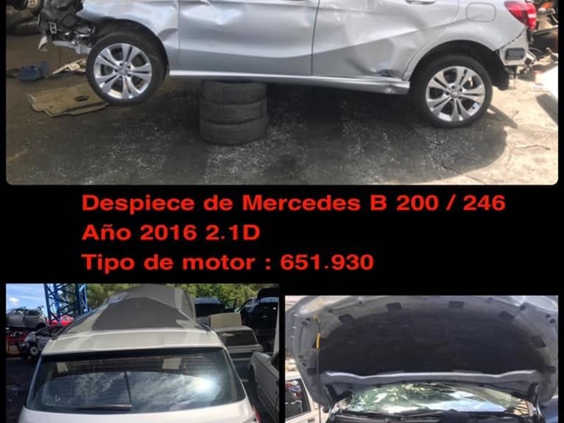 DESPIECE DE MERCEDES CLASE B 200 246