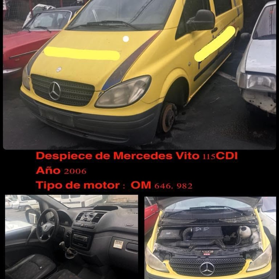 DESPIECE DE MERCEDES VITO 115 CDI